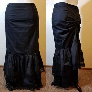 Black Bustle Skirt